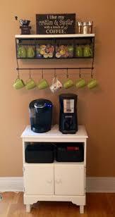 what a great idea for a diy coffee station with a mug rack shelf istandarddesign unique diy coffee station