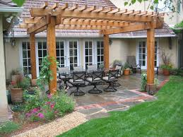 simple pergola ideas for small backyards decoration with black wrought iron patio furniture sets design on black wrought iron patio