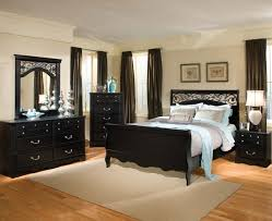 furniture black bedroom wood elegant classic