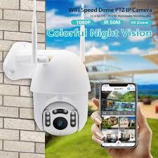 6x Zoom WIFI <b>PTZ Speed Dome</b> IP Camera <b>1080P HD</b> Outdoor ...