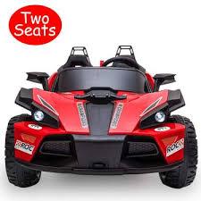Uenjoy 2 Seats Kids <b>Car</b> 12V Ride On Racer <b>Cars</b> Battery Operated ...