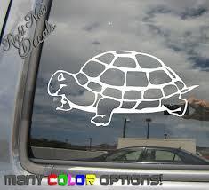 <b>Tortoise</b> - Land Dwelling <b>Turtle</b> - Auto Window Quality <b>Vinyl Decal</b> ...