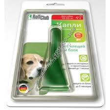 <b>ROLF CLUB 3D</b> капли от блох и клещей для собак 10-20 кг 1х60