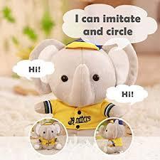 FOONEE Elephant <b>Stuffed Animal</b>, Electric Dancing Repeat Talking ...