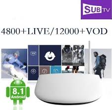 SUBTV <b>Arabic France</b> Subscription Q1304 Android 8.1 1+8G ...
