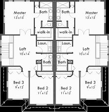 Craftsman Duplex House Plans  Luxury Duplex House PlansUpper Floor Plan for D  Craftsman duplex house plans  luxury duplex house plans