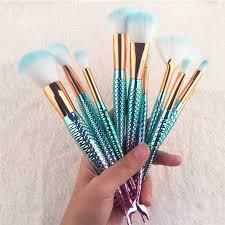 <b>21 Pcs</b>/lot <b>Makeup Brush</b> Set Mermaid <b>Make Up Brush</b> Foundation ...