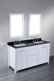 bathroom vanity 60 inch: bathroom cabinets gray wall paint white real wood vanity with storage drawers mirrors with wooden frame natural granite top  inch