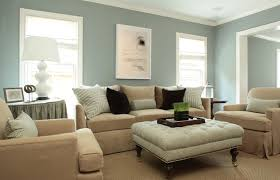 heres another blending of neutrals ice blue walls and beige furniture two neutrals that complement each other as well as provide a feeling of calm in beige furniture