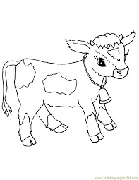 Small Picture 100 ideas Cow Coloring Pages To Print on kankanwzcom