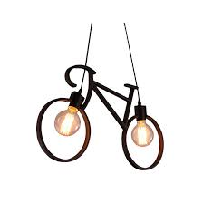 <b>Vintage Iron Bicycle Shape</b> Creative Pendant Lamp E27 Lamp ...