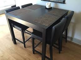 4 chair kitchen table: bar dining table with  chairs example bjursta henriksdal