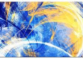 <b>Blue & Yellow Abstract</b> Modern Art | Custom Modern Art