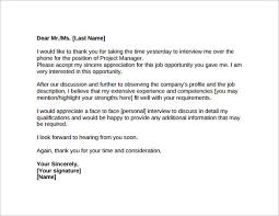 Thank You Letter After Job Interview - 15+ Download Free Documents ... Thank You Letters After Job Interview PDF