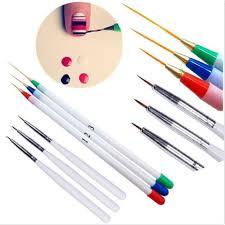 6Pcs/Set <b>Acrylic French</b> Liner Painting Dotting Drawing Pen <b>Brush</b> ...