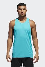 Майка <b>мужская</b> Adidas Supernova Tank, цвет: голубой. CZ8723 ...