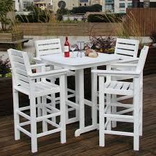 medium square patio table chair medium size of captain  pc recycled plastic bar height dining set whit