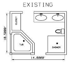 designing bathroom layout:  bath existing