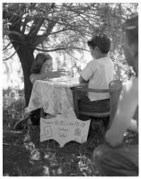 polio old news sandra ellis plays fortune teller to raise funds in fight against polio 1952