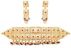 Touchstone Mughal Jali Collection Grand Bridal <b>Jewelry Choker</b> ...