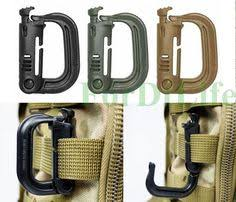 Sport <b>Outdoor Tactical</b> Webbing Buckle Belt D-Ring Carabiner ...