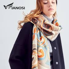 [VIANOSI] Wool <b>Scarf Winter Scarves Women</b> Warm <b>Shawl</b> Fashion ...