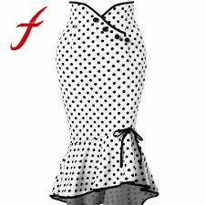 Feitong <b>Women Sexy</b> Skirts Casual <b>Polka Dot</b> Botton Asymmetrical ...