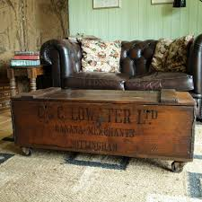room vintage chest coffee table: vintage industrial chest storage trunk coffee table mid century chest rustic box