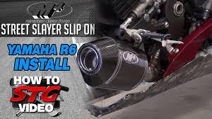 How to Install an M4 Street Slayer <b>Slip</b> On Exhaust on a <b>Yamaha</b> ...
