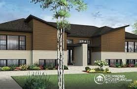 Multi family House Plans  amp  Investment Properties from    Everest   Noyo Modern duplex house plan   open concept  to bedrooms