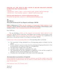 cover letter journal submission cover letter templates gallery of cover letter journal submission