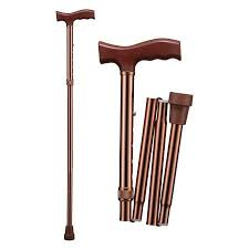 T-handle <b>walking stick</b> / height-<b>adjustable</b> / folding - WR-412 b - B ...