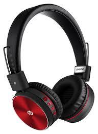 Bluetooth-<b>наушники Digma BT</b>-<b>12</b> с микрофоном (<b>Red</b>/<b>Black</b>)
