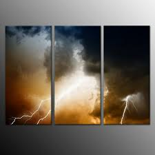 Lightning Storm Canvas Print Artwork Painting Picture Home Decor ...