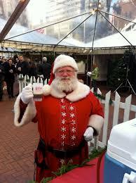 Santa Drinking a Brew