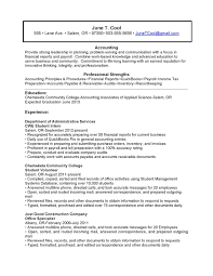 student resume accounting student resume