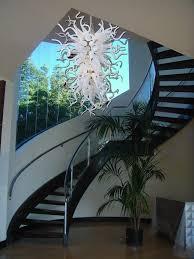 murano glass chandelier in staircase modern with chandeliers from italy blown glass chandelier modern italy blown glass
