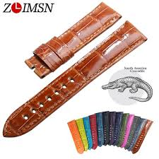 <b>ZLIMSN Alligator</b> skin Strap Quick Installation for Men's Women ...