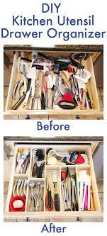 caddy basket kitchen utensil drawer make your own diy custom wood kitchen utensil drawer organizer super e