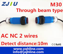 compare prices on switch wiring online shopping buy low price high quality 5 sets m30 through beam type ac nc normally close photoelectric photocell sensor
