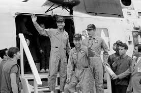 apollo nasa apollo 13 crew aboard uss iwo jima