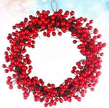 Amosfun <b>1PC</b> 40cm <b>Christmas Berry</b> Garland Simulation Wall Door ...