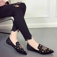<b>2018 New</b> Summer Women's Flat Shoes Ladies <b>Bee Embroidery</b> ...