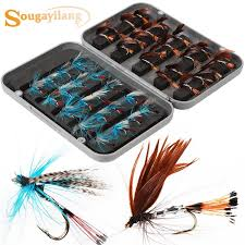 <b>Fly Fishing</b> Lure Set Style Insect Artificial Fishing Bait Feather Single ...