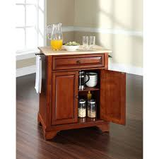 Portable Kitchen Island With Granite Top Crosley Furniture Newport Natural Wood Top Portable Kitchen Island