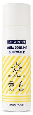 ETUDE HOUSE Active Proof Aqua Cooling Sun <b>Water</b> SPF50+/ ...