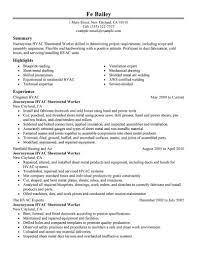 resume templates hvac professional resume cover letter sample resume templates hvac hvac resume sample cover letters and resume hvac sheetmetal workers resume examples construction refrigeration refrigeration mechanic