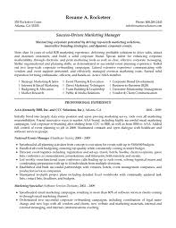 marketing manager resume sample pdf cipanewsletter cover letter s and marketing resume sample s and marketing