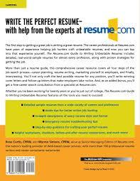 the resume com guide to writing unbeatable resumes warren simons com guide to writing unbeatable resumes warren simons rose curtis 9780071411059 com books