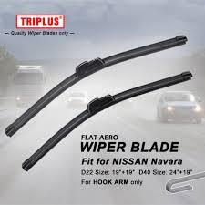 <b>Wiper Blade</b> for Nissan Navara D22/D40 <b>1set</b>, Flat Aero Beam ...